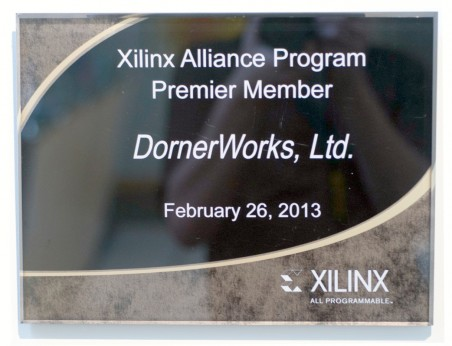 Xilinx Alliance Program Premier Member (2013)