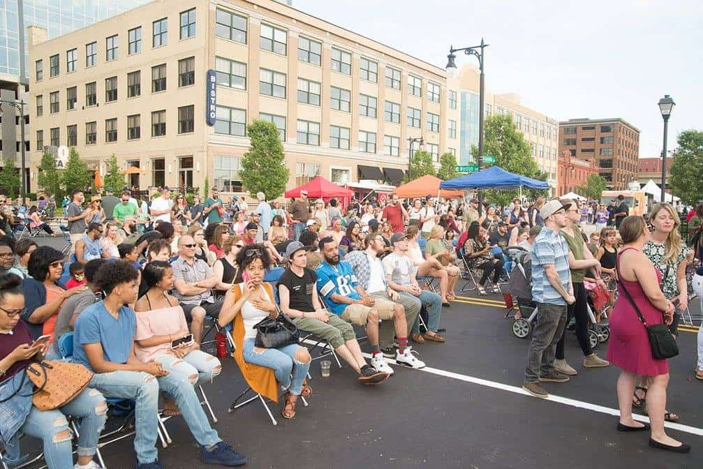 The Local First Street Party draws several thousand to downtown Grand Rapids each year.