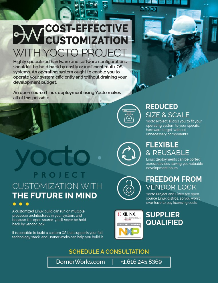 Download our flyer: Cost-Effective Customization with Yocto Project