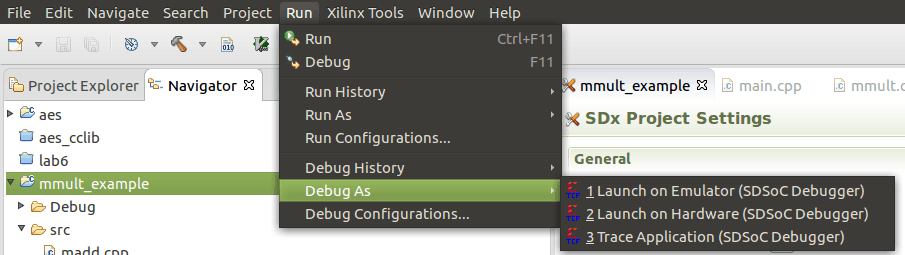 Figure 5: Connect Debug Session to Running PL Emulation